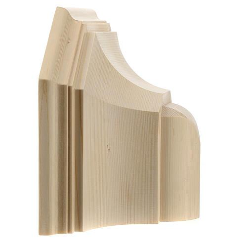 Mensola parete gotica 22x27 legno naturale cerato 5