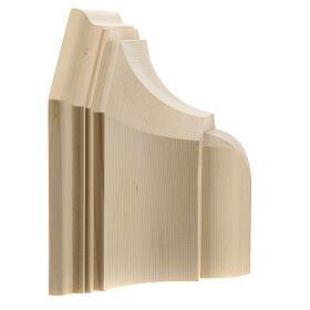 Wall shelf, gothic 22x27 in natural wax Valgardena wood s5