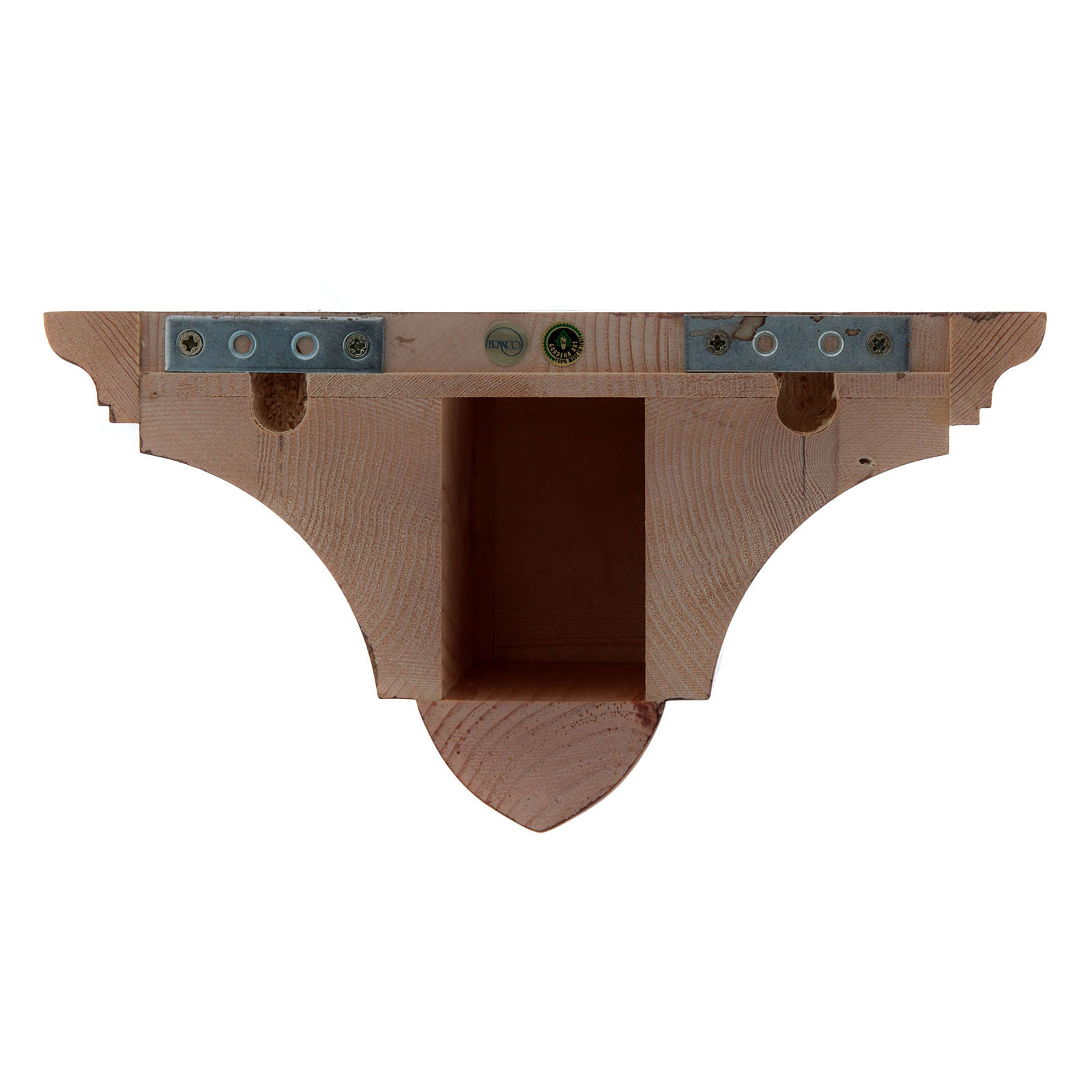 Ménsula pared gótica de madera patinada 22x27cm 4