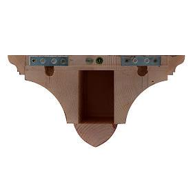 Ménsula pared gótica de madera patinada 22x27cm s3
