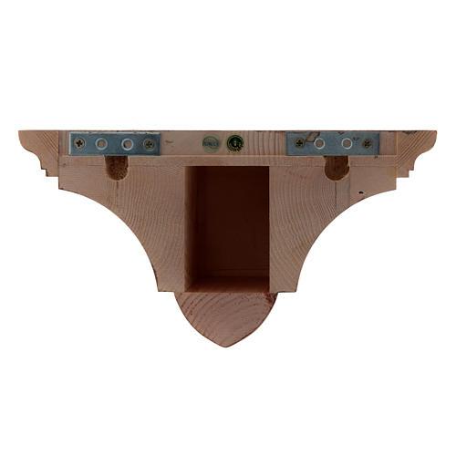 Ménsula pared gótica de madera patinada 22x27cm 3