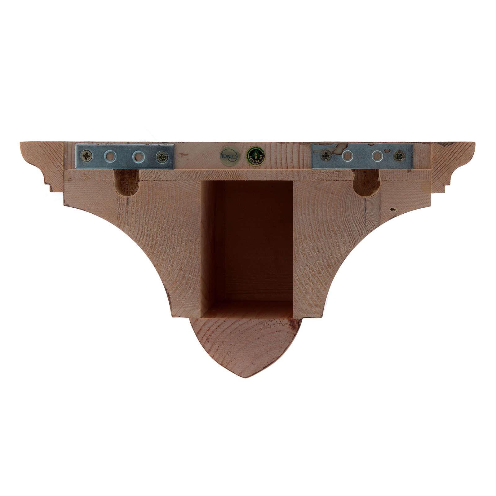 Mensola parete gotica 22x27 legno patinato 4