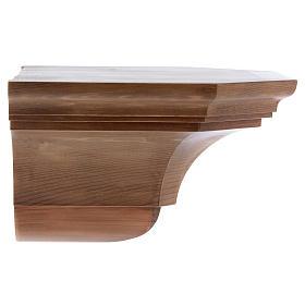 Mensola parete gotica 22x27 legno patinato s2