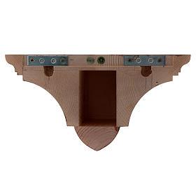 Mensola parete gotica 22x27 legno patinato s3