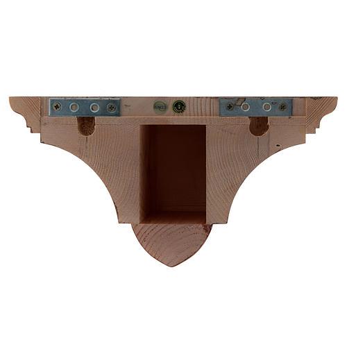 Mensola parete gotica 22x27 legno patinato 3