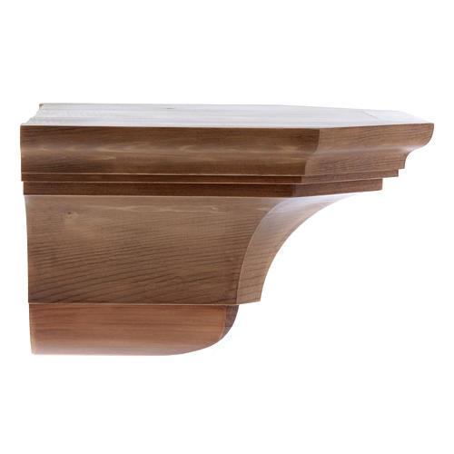 Mensola parete gotica 22x27 legno patinato 2