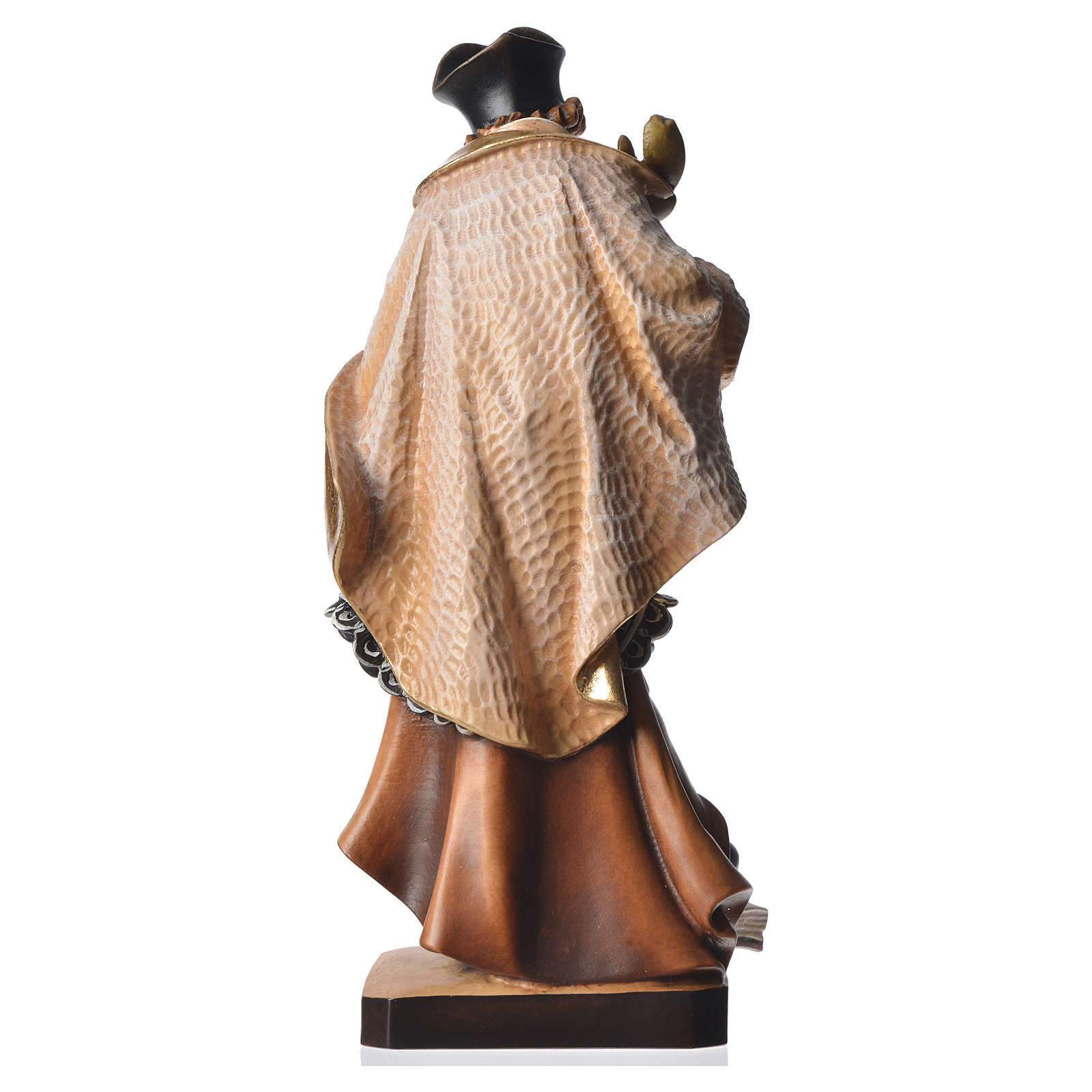 Statue Saint Népomucène 30 cm bois peint 4
