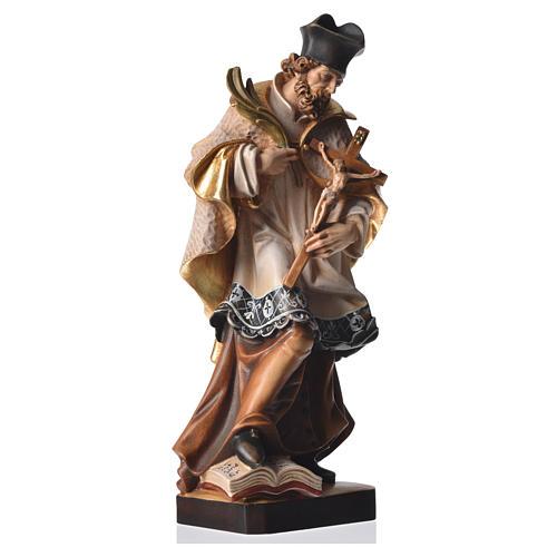 Statue Saint Népomucène 30 cm bois peint 2