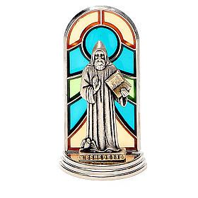 STOCK Saint Benedict metal 5,5cm, glass base s1