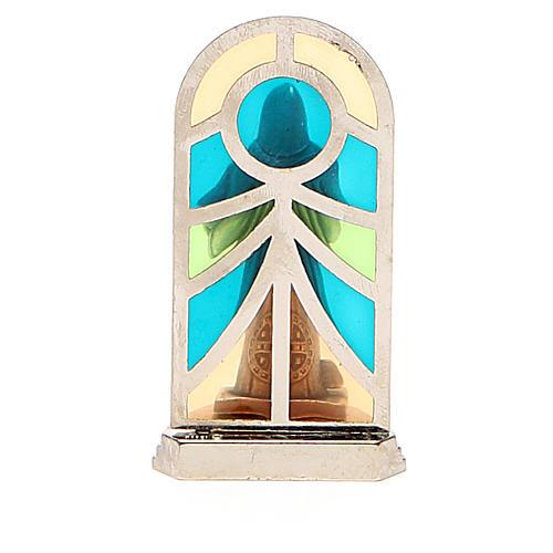 STOCK Saint Benedict metal 5,5cm, glass base 6