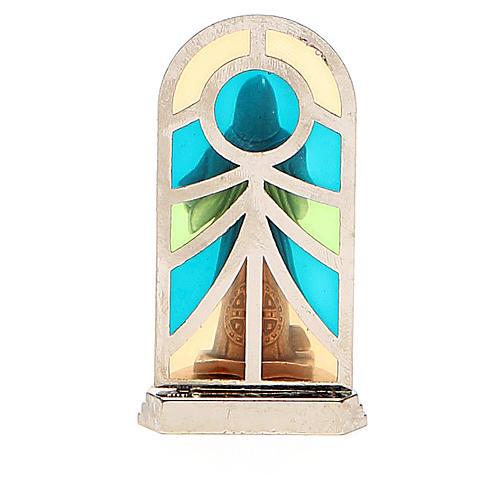 STOCK Saint Benedict metal 5,5cm, glass base 3