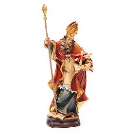 STOCK Statue Saint Blaise bois peint 20 cm s1
