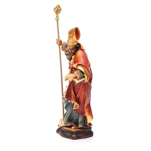 STOCK Statua San Biagio legno dipinto cm 20 2