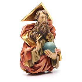 STOCK Padre Eterno de madera pintada 15 cm s3