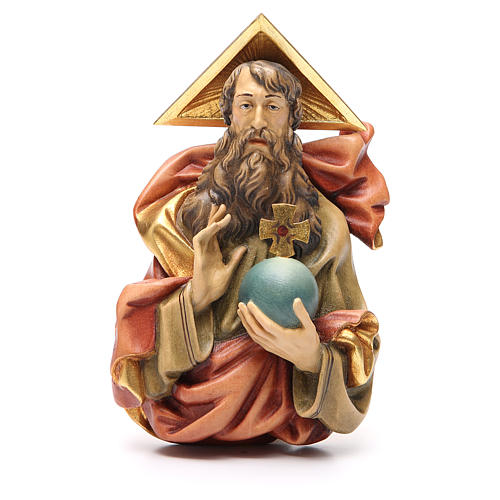 STOCK Padre Eterno de madera pintada 15 cm 1