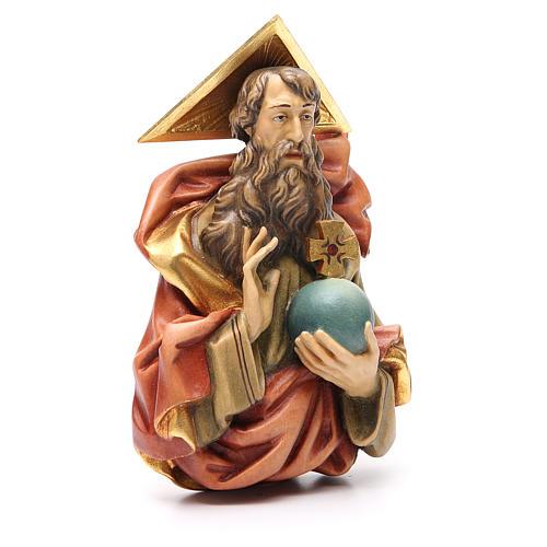 STOCK Padre Eterno de madera pintada 15 cm 3