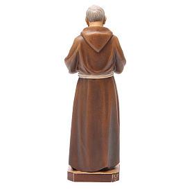 STOCK Statue Saint Pio bois peint 20 cm s3