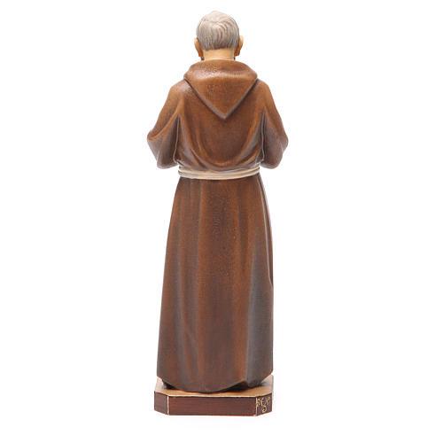 STOCK Statue Saint Pio bois peint 20 cm 3