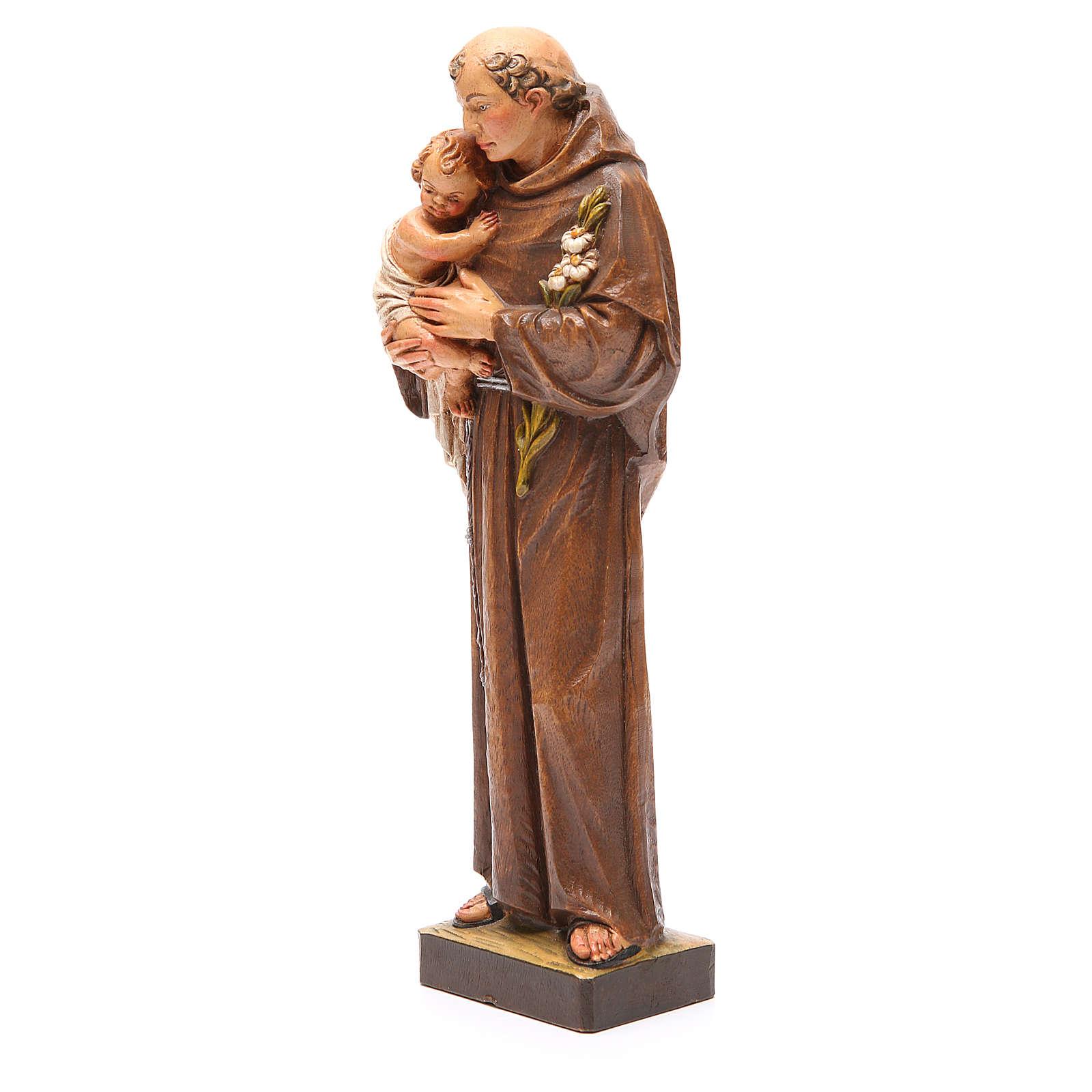 STOCK Statua Sant'Antonio pasta di legno dipinta 31 cm 4