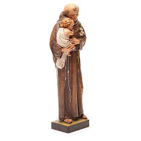 STOCK Statua Sant'Antonio pasta di legno dipinta 31 cm s3