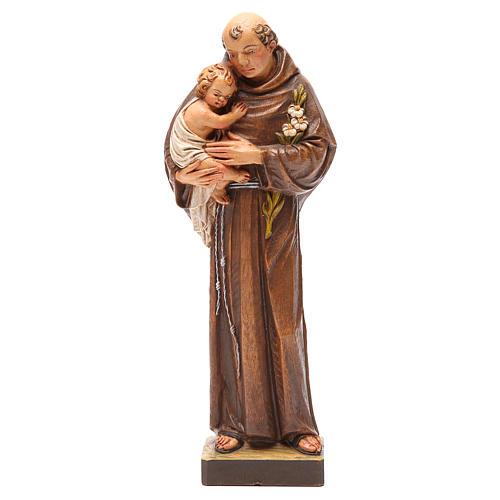 STOCK Statua Sant'Antonio pasta di legno dipinta 31 cm 1