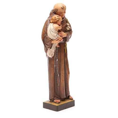 STOCK Statua Sant'Antonio pasta di legno dipinta 31 cm 3