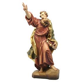 Statua San Paolo in legno colorato dipinto s1