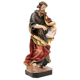 Saint Matthew statue in painted wood, Val Gardena s4