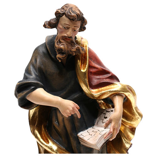 Saint Matthew statue in painted wood, Val Gardena 2