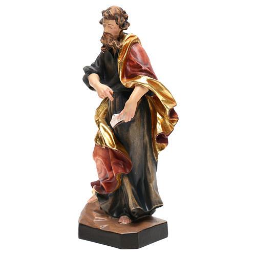 Saint Matthew statue in painted wood, Val Gardena 3