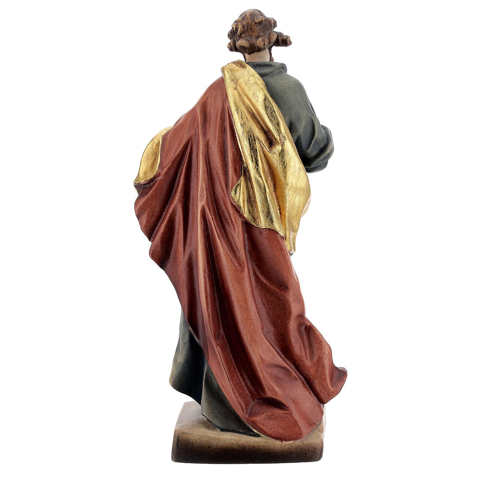 San Matteo legno colorato veste blu oro rossa 4