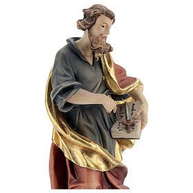 San Matteo legno colorato veste blu oro rossa s2
