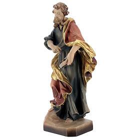 San Matteo legno colorato veste blu oro rossa s3