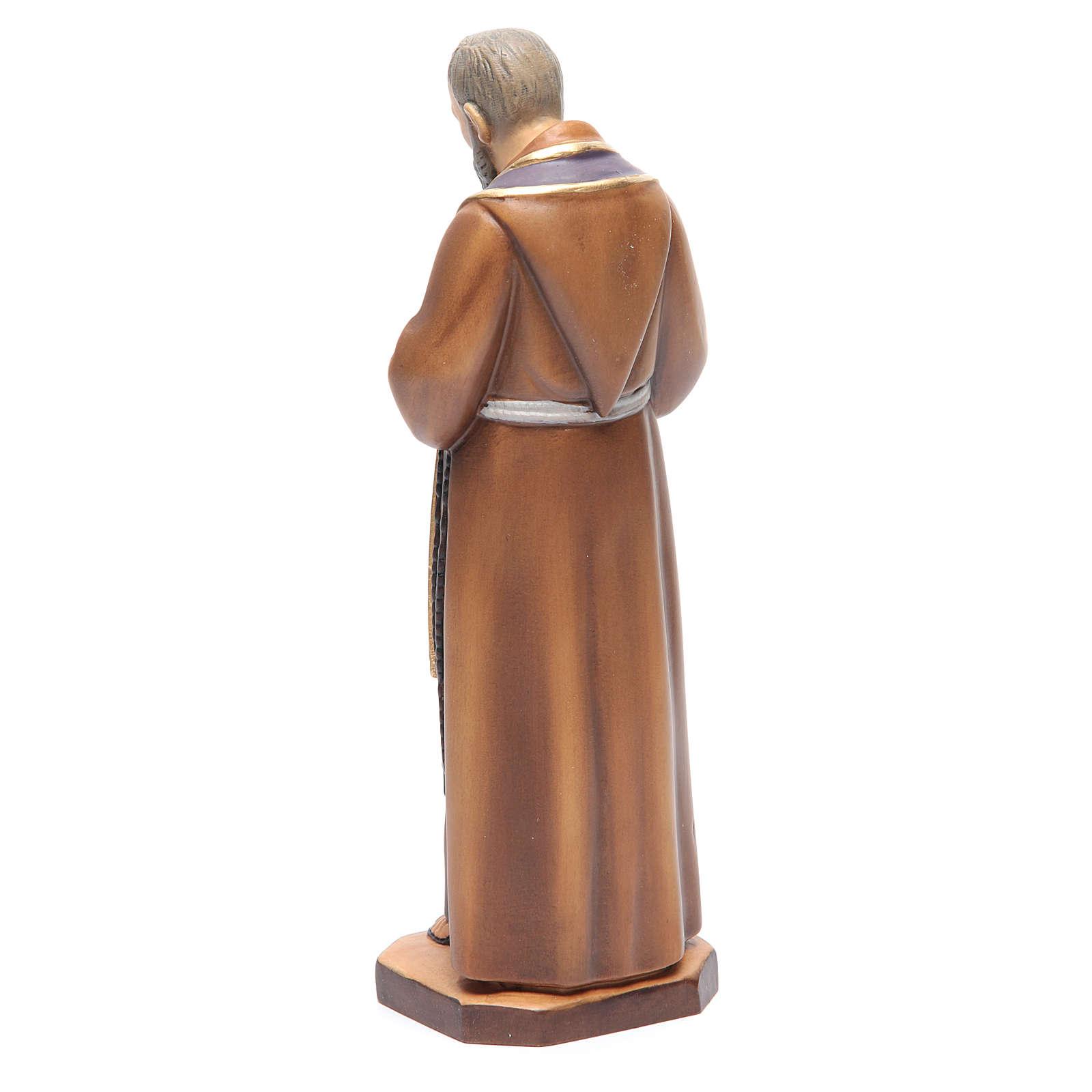 San Padre Pio da Pietrelcina legno dipinto stola viola 4
