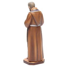 San Padre Pio da Pietrelcina legno dipinto stola viola s3