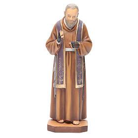 Figurka święty Ojciec Pio drewno malowane s1