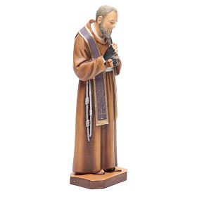 Father Pio of Pietralcina wooden statue painted s4
