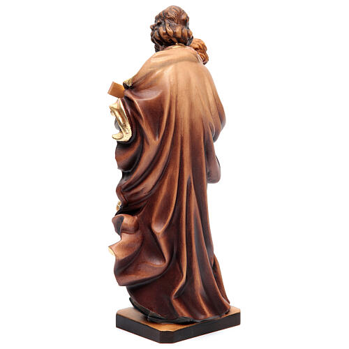 Saint Joseph statue with Baby Jesus in painted wood 6