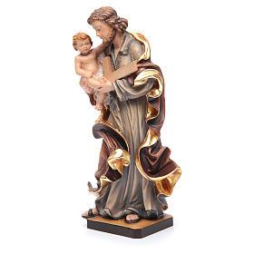 Estatua San José con el Niño Jesús de madera pintada s2