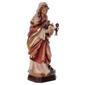 Santa Apollonia con tenaglia in mano legno dipinto s4