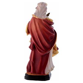 Santa Apollonia con tenaglia in mano legno dipinto s5