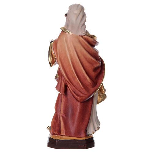 Santa Apollonia con tenaglia in mano legno dipinto 5