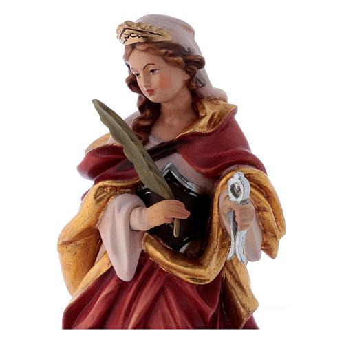 Santa Apollonia con tenaglia in mano legno dipinto 2