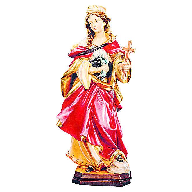 Sainte Marguerite bois coloré croix et poisson 4