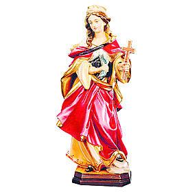 Sainte Marguerite bois coloré croix et poisson s1