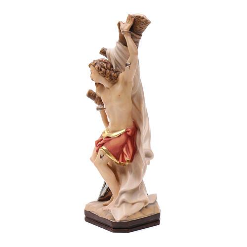 Statue de Saint Sébastien en bois peint de la Valgardena 2