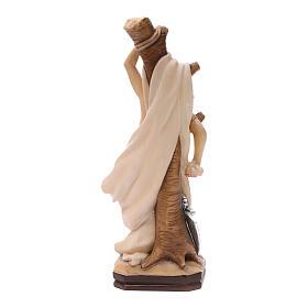 Statua di San Sebastiano in legno dipinto della Val Gardena s4