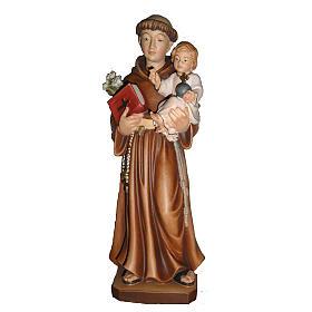 St Antoine de Padoue avec Enfant bois peint Val Gardena s2