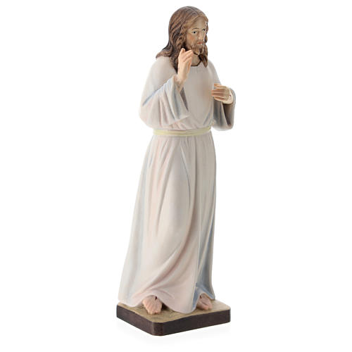 Christ Pantocrator statue in painted wood, Val Gardena 4