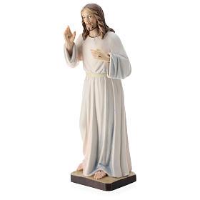 Estatua Jesús Bendiciente madera pintada de la Val Gardena s3
